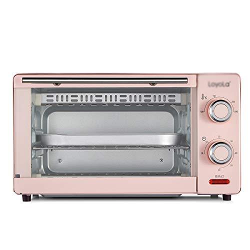 BEI-YI Backofen Multifunktionshaushalt Mini-Kuchen Kleiner Ofen 11 Liter elektrischer Ofen -Backöfen (Farbe : Rosa) (Ofen Rosa Toaster)