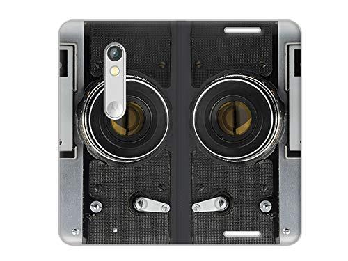 Hülle für Motorola Moto X Play - Hülle, Handy Flip Case - Retro Aparat
