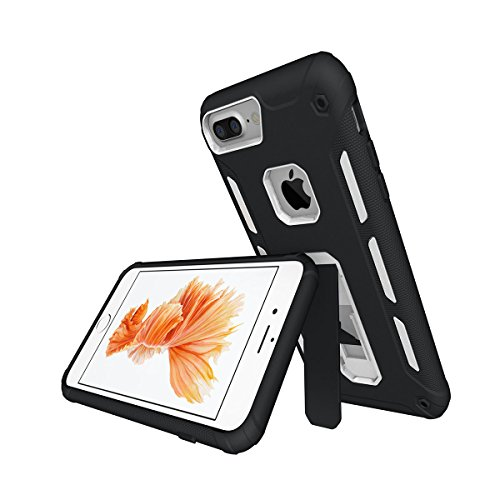"Coque iPhone 6 Plus, MSK® Coque iPhone 6S Plus Protection Case [Tough Armor] Housse Etui Coque Pour Apple iPhone 6 Plus/6S Plus (5.5"") Smartphone Protection - Noir Blanc"