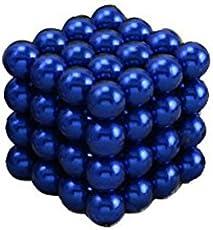 64 magic Balls Sculpture Toy - 64 Pieces 5mm Large Size- (5mm, Blue)
