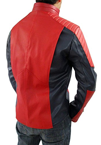 The Amazing Spiderman Shield Jacket - The Amazing Spiderman Shield Jacket Rouge et bleu