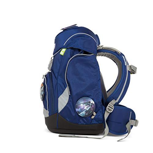 Ergobag Pack, BlaulichtBär, ergonomischer Schulrucksack, Set 6-teilig, 20 Liter, 1.100 g,