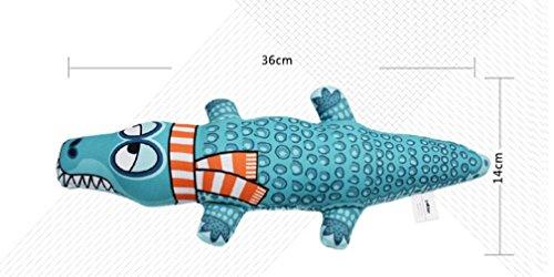 Spielzeug kauen Krokodil geformt Molar beißen Hundespielzeug Zähne Reinigung quietschende Canvas Spielzeug für kleine mittlere und große Hunde (blau) Durch Znyo