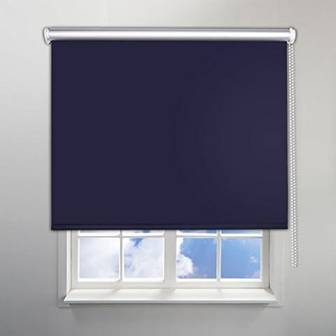 SHINY HOME® Lusso Fissaggio Facile 100x230cm Tende Avvolgibili a Rullo Oscuranti Isolanti Termiche e Solari per finestre e porte, colore: Blu