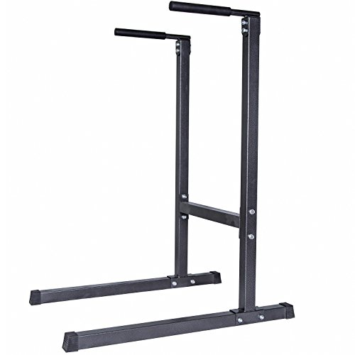 GYM-MASTER-Heavy-Duty-Dip-StationParallel-Dip-Bars-Gunmetal