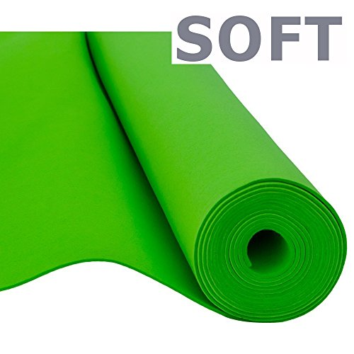 Filz, Filzstoff, Dekorationsfilz, Weicher Filz, Breite 150cm, Dicke 3mm, Meterware 0,5lfm – grün