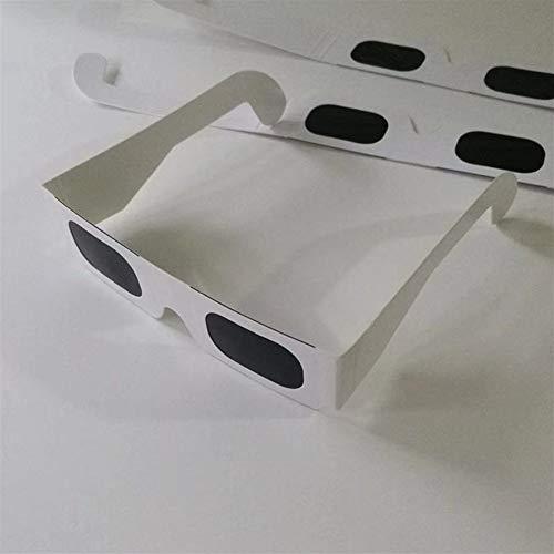 Sauberer Vorrat Preiswerter Preis 10pcs / Lot Sichere Solarpapiergläser, Sichere Sonnenfinsternis-Betrachtungsgläser (Color : White)
