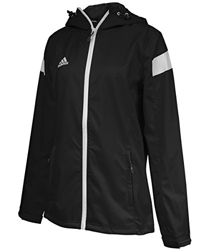 adidas Damen Team Woven Jacket, Damen, schwarz/weiß Woven Warm Up Jacket