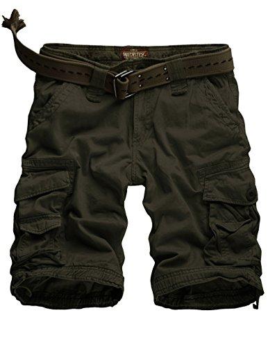 Match Herren Cargo Shorts #S3612(3612 Armee green,48 (Tag size 3XL/38))