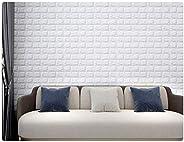 Wall Sticker 3D Wallpaper Wall Decoration Panels PE Foam Brick Pattern Self-Adhesive Removable and Waterproof
