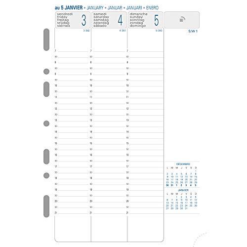 Calendario A Settimane.Exacompta 28272e Calendario Con Settimane 2 Fogli Su Griglia Verticale Da Settembre 2017 A Dicembre 2018 14 2 X 21 Cm