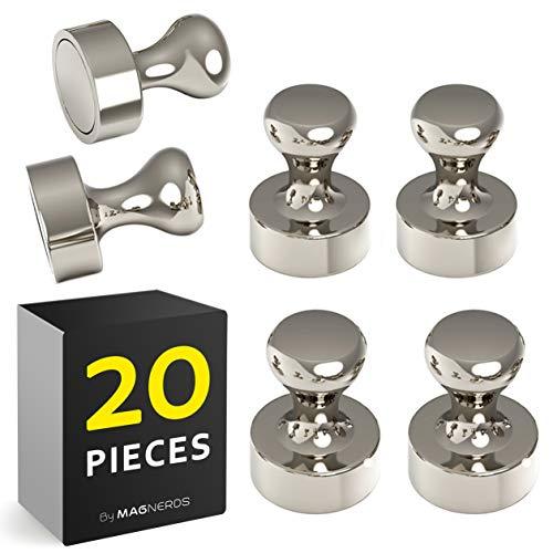20 Stück Magnetische Reißzwecke Magnete Neodym N52 für Magnettafel, Kühlschrank, Whiteboards - Pinwand Magnet Pins