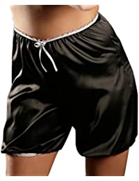 Nine X - Shorts en satin français S M L XL 2XL 3XL Culottes - Bloomers de plusieurs couleurs Black S