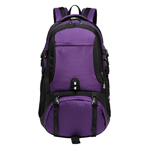 AMOS Outdoor Rucksack Bergsteigen Tasche Großraum Rucksack männlich Licht Reisebeutel weiblich zu Fuß Camping reisen 60L Lila