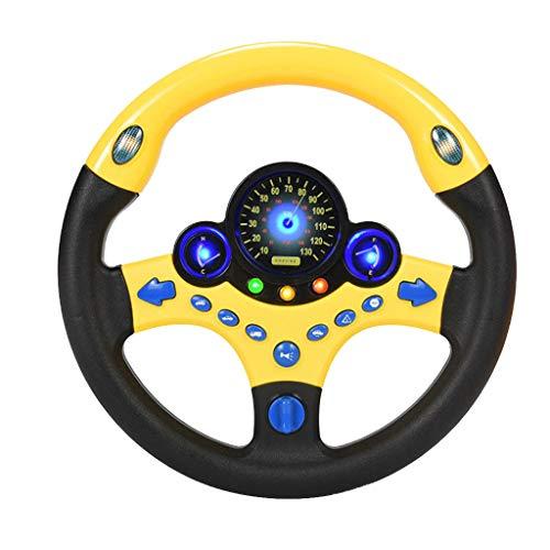 FBGood Neue Kinder Lenkrad Spielzeug,Copilot Simulierte Gaming Lenkrad Rennfahrer Spielzeug Baby Kindheit Pädagogische Snooker Fahren Simulation Lernspielzeug (B(Keine Sockel)) - Euro Sockel-basis