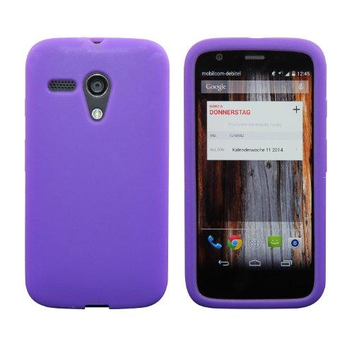 Luxburg® In-Colour Design coque de protection pour Motorola Moto G 2013, en couleur Indigo / violet, étui case en silicone