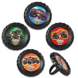 pcake Rings - 12 ct by Bakery Crafts (Monster-truck-cupcakes)
