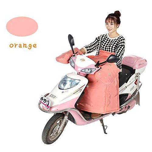 Preisvergleich Produktbild HWG-GAOYZ Windschutzscheibe des Elektrischen Autos Batterie-Auto-Windschutzscheibe Motorrad-Kleidung Schützende Kleidung Herbst Winter Winddicht Wasserdicht, Orange