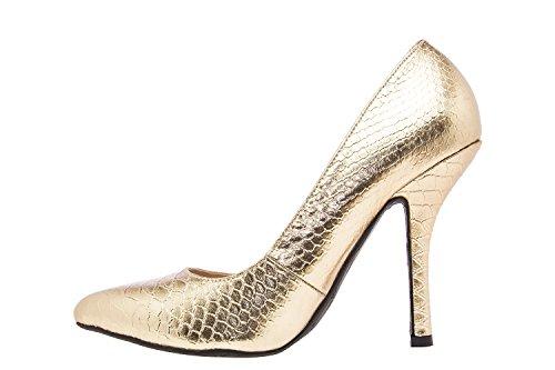 Andres Machado - AM591 - Damenschuhe in Soft Multifarbe Schlange Gold