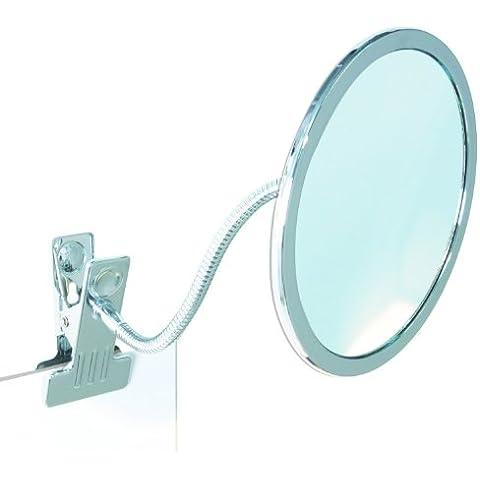 Enzo Rodi 411410 Iris - Specchio a morsetto Ø 14,8 cm, metallo cromato