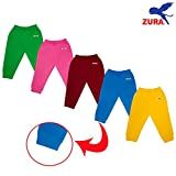 #7: Zura's Export Quality Cotton Baby Leggings / Baby Pant / Baby Track pant / kids leggings /kids pyjamas for Baby Boys and Baby Girls (Pack of 5)