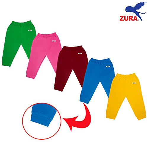 Zura's Export Quality Cotton Baby Leggings / Baby Pant / Baby Track pant / kids leggings /kids pyjamas for Baby Boys and Baby Girls (Pack of 5)