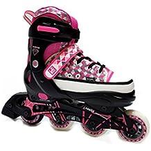 KRF Diamond - Patines en línea para mujer, color rosa, talla L (37-40)