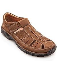 Sandalias de cuero acolchadas para hombre. Deportivas y cómodas. Calidad garantizada.