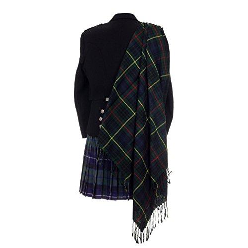 The Scotland Kilt Company Neu Tartan Schottische Purled Fransen Budget Fly Plaid für Kilts in Palette mit Tartans - Hunting Stewart, Einheitsgröße