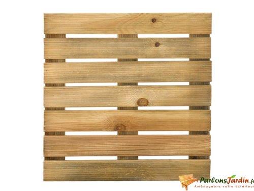 Dalle de terrasse en bois motif droit 50