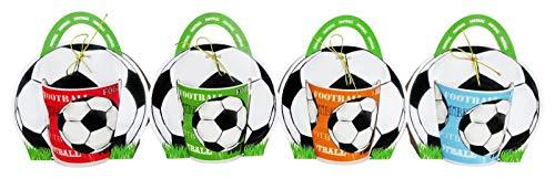 DISOK Lote de 36 Tazas Fútbol en Bolsa de Regalo - Originales Tazas para niños como Detalles de comunion, Boda y/o Eventos.