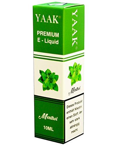 YAAK® Premium E-Liquid 1 x 10 ml Menthol ohne Nikotin / E-Zigaretten, Elektrische-Zigarette, E-Shisha / Fruchtgeschmack Menthol Ziel Nikotin