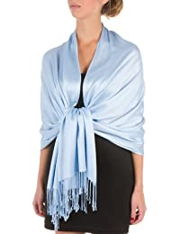 "Sakkas 78"" x 28"" Eco-Friendly Bamboo Rayon Soft Solid Pashmina Schal / Stola (12+ Solid Farben)"