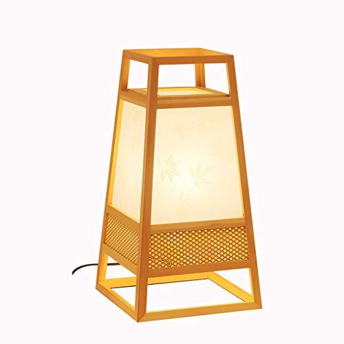 Lámpara de pie de estilo japonés, lámpara de mesa, lámpara de dormitorio, restaurante de sushi, restaurante, sala de estudio moderna y moderna, regalo de madera maciza, regalo personalizado, decoració