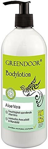 500ml SPARPACKUNG Greendoor Bodylotion Aloe Vera, Körperlotion in Top Manufaktur-Qualität ohne Silikon, ohne Parabene, vegan, Körpermilch ideal bei trockener Haut, Body (Aloe Vera Bodylotion)