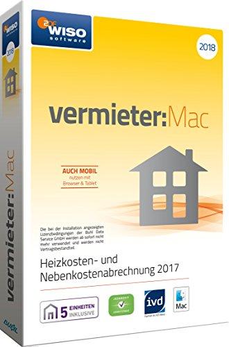 WISO vermieter:Mac 2018 - Heizkosten- und Nebenkostenabrechnung 2017