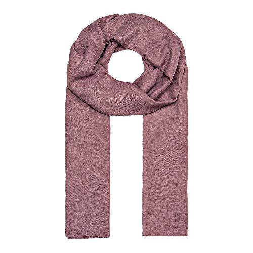 ManuMar Schal für Damen einfarbig | Hals-Tuch in lila als perfektes Sommer-Accessoire | Klassischer Damen-Schal | Stola | Mode-Schal | Geschenkidee für Frauen und Mädchen