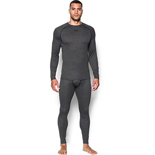 Unter Rüstung Athletic Leggings (Unter Armor Herren Boden Wolle Leggings, Herren, Black/Stealth Gray)