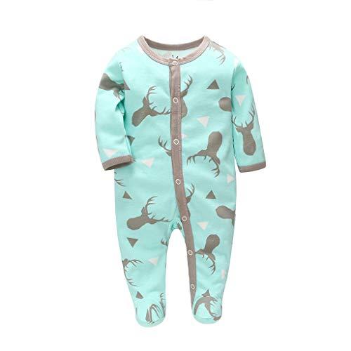 WFRAU Babyschlafsack für Neugeborene - Ganzjahresschlafsack für Babys - praktischer Schlafsack mit Füßen - Baby Schlafstrampler ohne Ärmel - Geschenkidee für frischgebackene Eltern - Pyjama