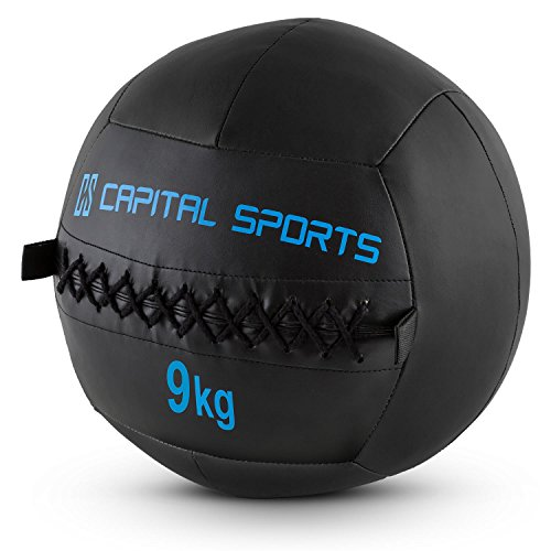 CapitalSports Epitomer 5X balón Peso 9kg Cuero sintético