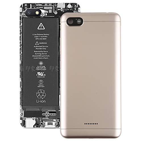 XINGCHEN Reemplazo de la Carcasa de la batería Tapa Trasera con Teclas Laterales para Xiaomi Redmi 6A (Oro) Partes de la Tapa Trasera de la batería (Color : Gold)