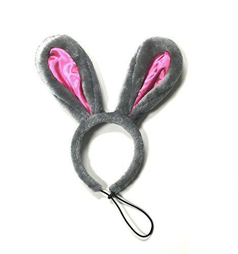 Midlee Ostern Bunny Grau & Pink Kaninchen Ohren für Große Hunde - Großer Kaninchen Kopf Kostüm