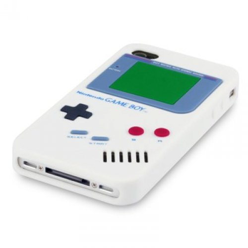 OBiDi - 3D Gameboy Coque en Silicone / Housse pour Apple iPhone 4S / Apple iPhone 4 - Blanc Blanc