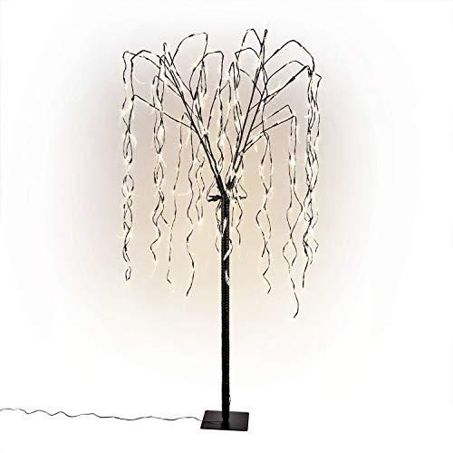 CLGarden LED Weidenbaum LEDWB240 Weide Trauerweide Hängeweide beleuchtet Lichterbaum