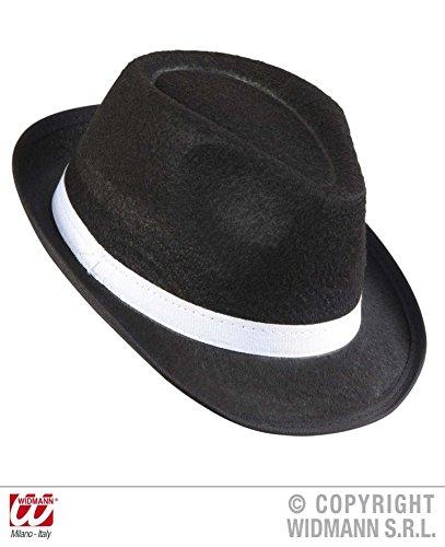 HUT FEDORA - GANGSTER - 59 cm, Mafia 20er 30er Jahre Killer Strandparty Karibik (Gangster Damen Kostüm)