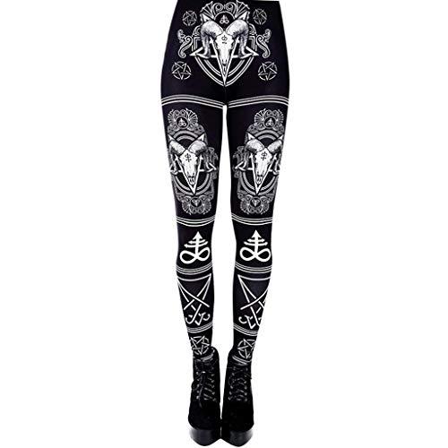 RISTHY Pantalones Gótico Largos Sexy Leggins Mujer Mallas...