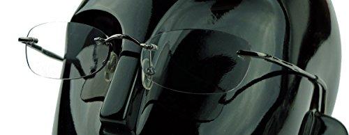 Moderne randlose Lesebrille für Damen mit farbigen Linsen in Sehstärke CCL (Smoke +1.50 ()