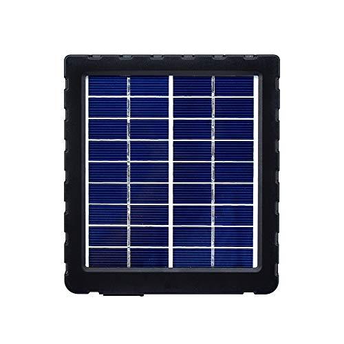 WildHD Solarpanel Ladegerät Solargeräte, Tragbare 2W Mini Sonnenkollektor 1500mAh Jagdkamera Solarbank mit Akku für die Jagd und WildKamera