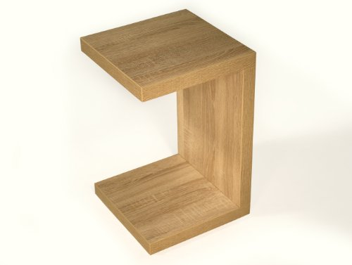 levandeo Beistelltisch Coco Sonoma Eiche sägerau 32x32cm Höhe 50cm Keine Montage fest verleimt Holz Couchtisch Tisch Sofatisch
