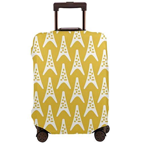 Mid Century Moderner Boomerang Dreieck-Muster, Senfgelb, Reisetasche, passend für 66-71 cm Koffer